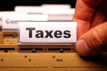 image of taxes sign
